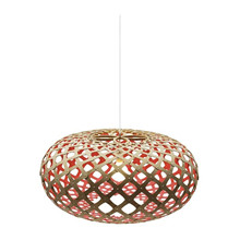 Kina Red pendel Lampe fra David Trubridge