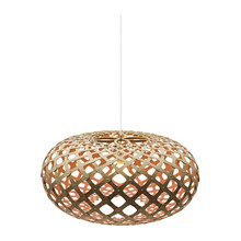 Kina Pink pendel Lampe fra David Trubridge