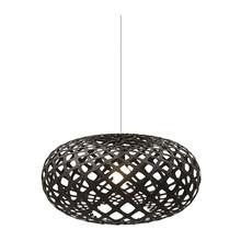 Kina Black pendel Lampe fra David Trubridge
