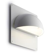 Rørhat Udendørs Væglampe Hvid med bagplade - Light-Point