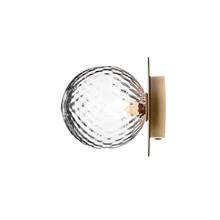 Liila 1 Væglampe/Loftlampe Nordic Gold/Optic Clear - Nuura