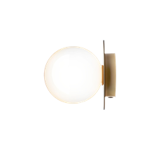 Liila 1 Vägglampa/Plafond Nordic Gold/Opal White - Nuura