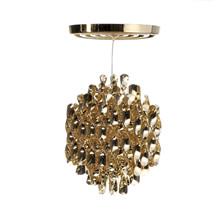 Spiral SP1 Guld pendel lampe design Verner Panton