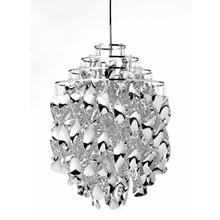 Spiral SP01 Sølv pendel lampedesign Verner Panton