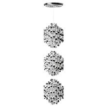 Spiral SP3 Sølv pendel lampe design Verner Panton
