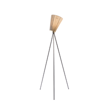 Oslo Wood Gulvlampe Sort/Beige - Northern