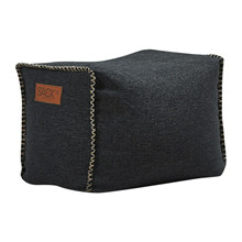 RETROit Cobana Square Puf Udendørs - Black, SACKit