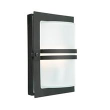 Basel LED Utomhus Vägglampa Frostet/Svart - Norlys