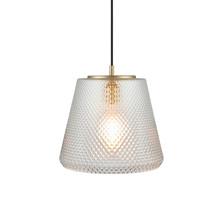 DAMN FASHIONISTA pendant Ø30 clear/brass Pendel - Watt A Lamp
