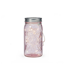 Jar Light -lyhty Pinkkihopea - Tivoli Lights