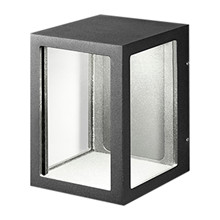 Lantern W2 Utendørs LED Vegglampe Sort  fra Light Point