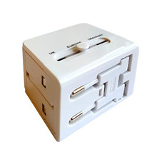 Reiseadapter - All in one - med 2 usb-innganger