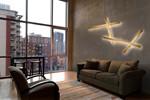 Stick Guld LED Væglampe fra Light-Point