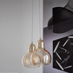 Mega Bulb Guld Pendel Lampe - &tradition