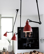 Lampe Gras 302 Loftlampe Sort - Rød fra DCW Éditions