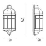 Capri Mini Udendørs Væglampe fra Noral