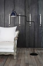 Lampe Gras 411 Gulvlampe Sort - Blå fra DCW Éditions