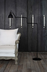 411 Gulvlampe Sort - Lampe Gras