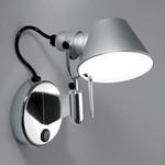 Tolomeo MICRO Faretto Væglampe m/Afbryder E14 Alu - Artemide