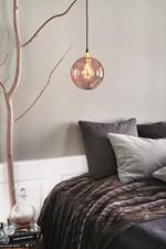 Ballroom Pendel Pink/Rose  m/Guld Sokkel - Design By Us