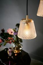 DAMN FASHIONISTA pendant Ø15 clear/brass Pendel - Watt A Lamp
