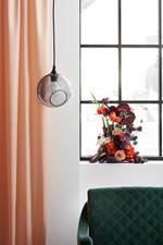 Ballroom Pendel Smoke m/Sort Sokkel - Design By Us