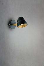 Fico LED Væglampe sort/messing - Herstal