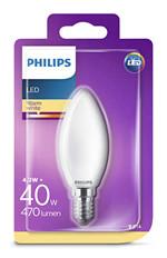 Kertepære LED Warm White 4,3W E14 - Philips