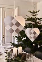 Le Klint Julehjerte - Hvid/Sølv - X-Small