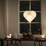 Le Klint flettet julehjerte hvid Pendel Lampe - 5 størrelser