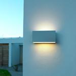 Asker Up/Down Udendørs Væglampe 22,5 cm Hvid - Norlys