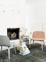 Wood Bordlampe Pine w. White Cord - Muuto