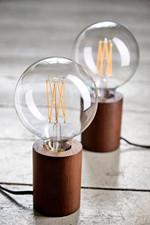 Bristol Bordlampe Mørk Træ - Frandsen