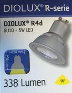 LED Spotpære fra Diolux - GU10 5W 338 Lumen