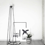 MODEL 3 BLACK/GREY CORD Gulvlampe - Grupa Products