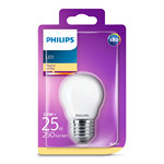 Pære LED 2,2W Glas Krone (250lm) E27 - Philips