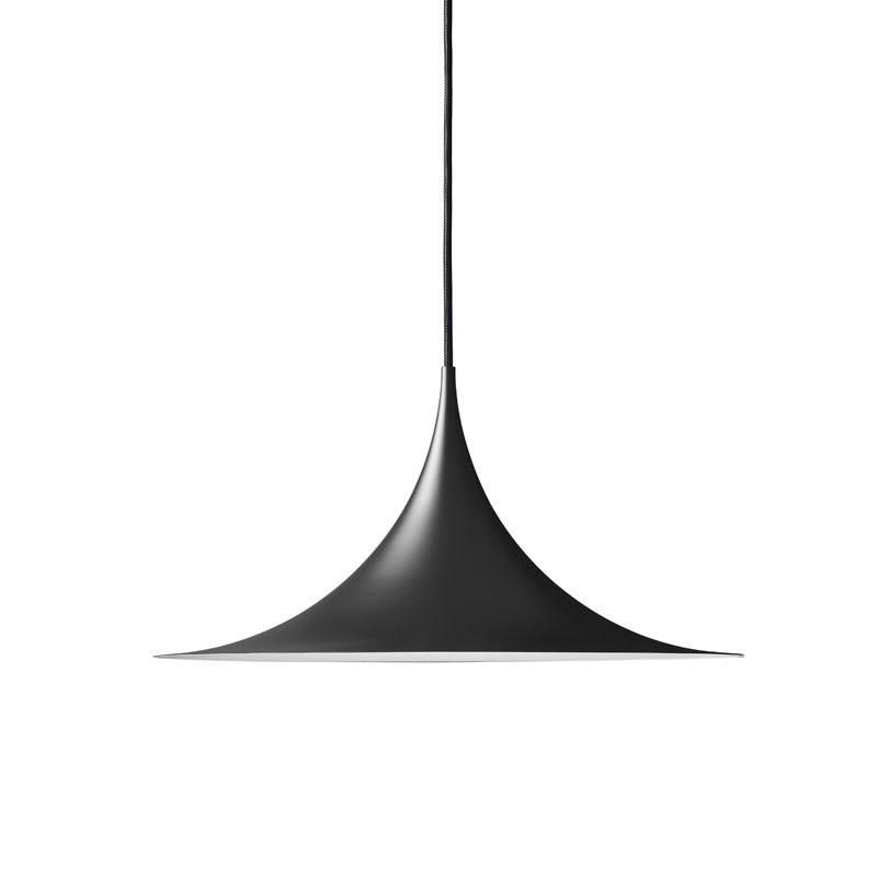 semi pendel 60 matt svart gubi kj p p nett designlite. Black Bedroom Furniture Sets. Home Design Ideas