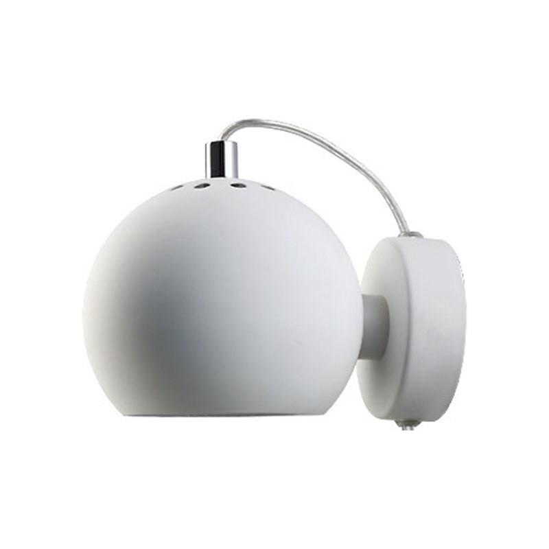 Ball V u00e6glampe Mat Hvid Frandsen u2013 Kob online u2013 Designlite