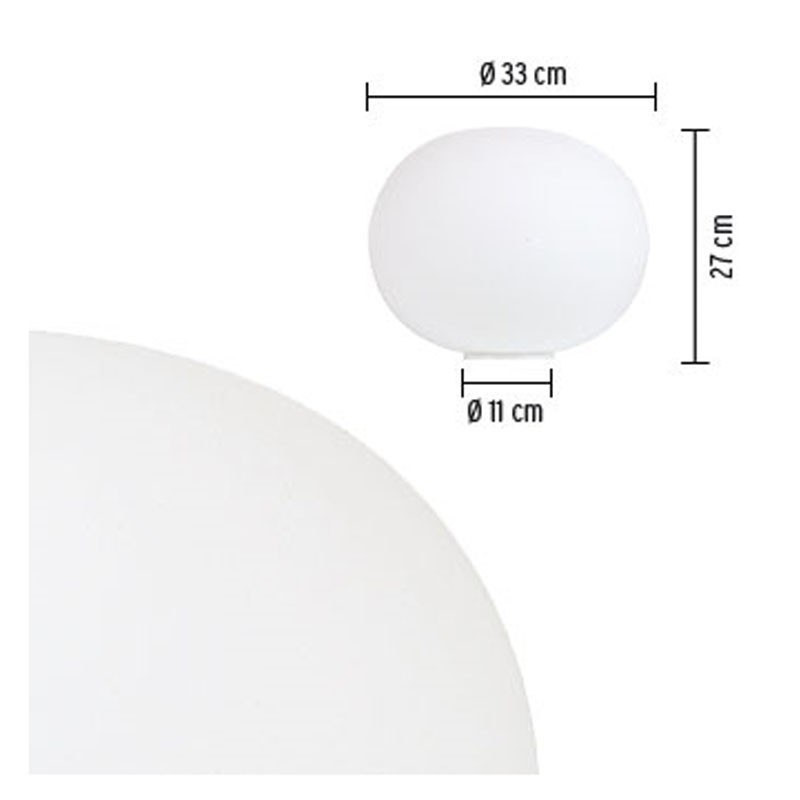 Glo-Ball Basic 1 Bordlampe - Flos