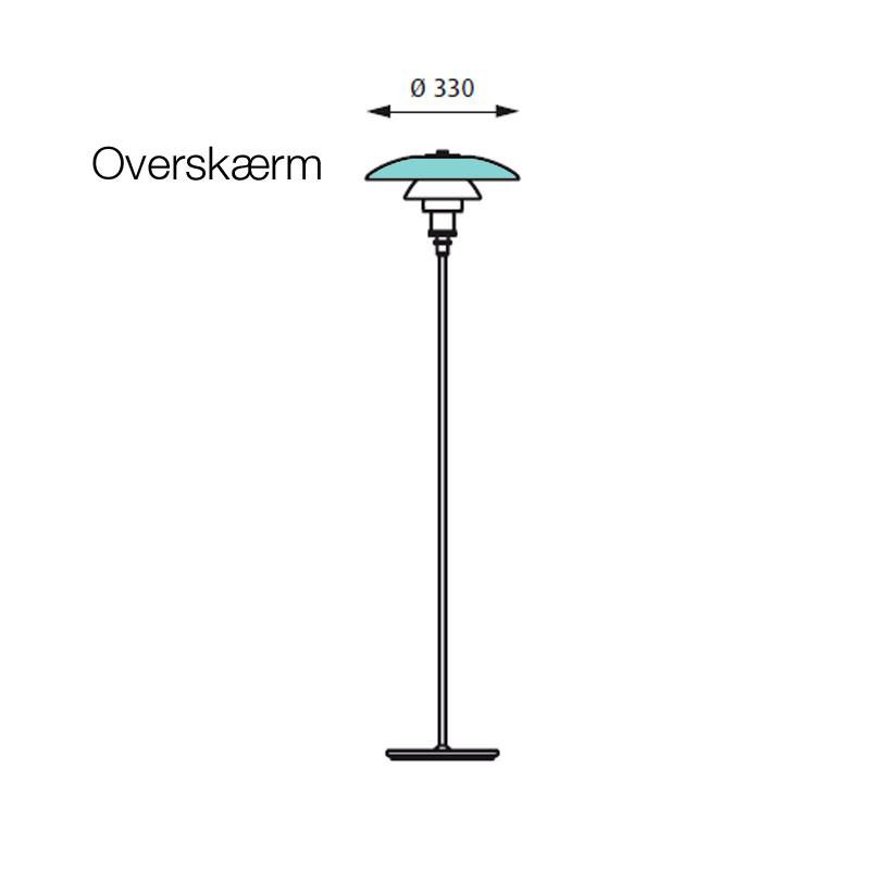 PH 3 u00bd 2 u00bd Golvlampa Glasskärm Louis Poulsen u2013 Köp online u2013 Designlite