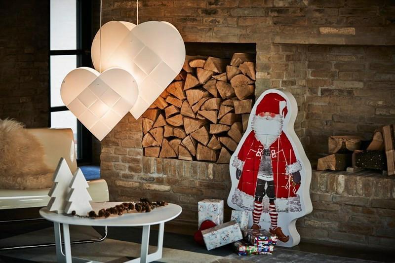 Le Klint Hjerte Lampe - Le Klint flettet julehjerte hvid Pendel Lampe 5