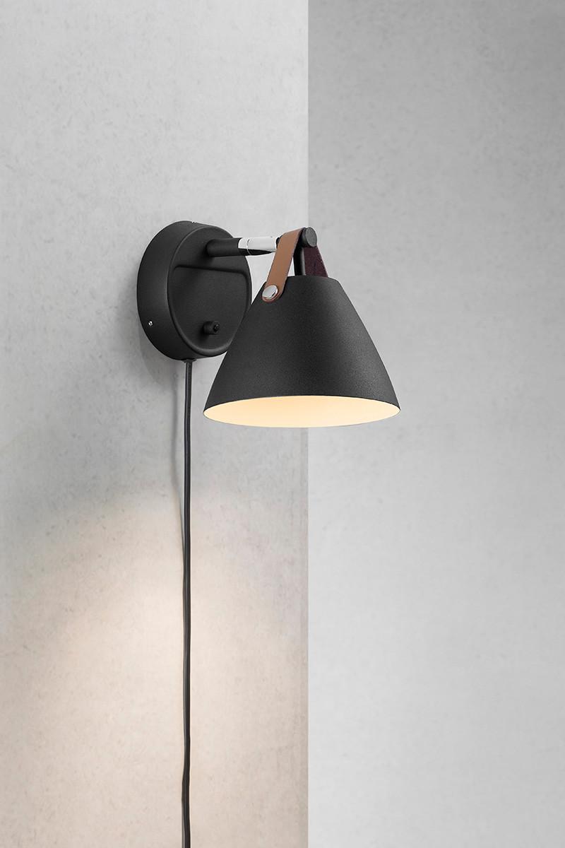 Strap 15 V u00e6glampe Sort Nordlux u2013 Kob online u2013 Designlite