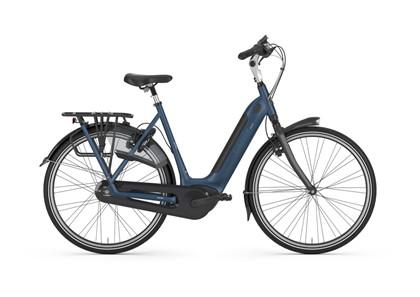 GAZELLE El-cykel | GRENOBLE C8 HMB | Mallard blue mat | Lav indstigning