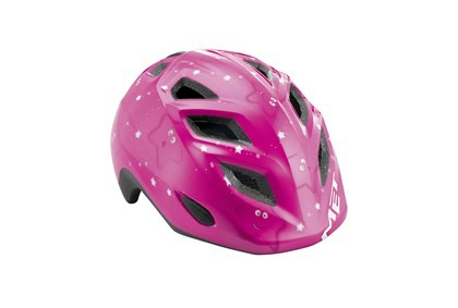 Met Børne Cykelhjelm Elfo/Genio Pink/stjerner