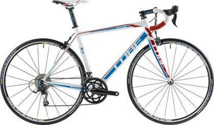 CUBE Race - PELOTON RACE - Hvid, blå og rød - Str. 56 cm