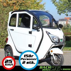 Kabinescooter Bach Delux 26 - Hvid - inkl. Batteri RS90