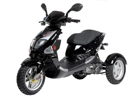 PGO Trike 3-hjulet scooter - Sort