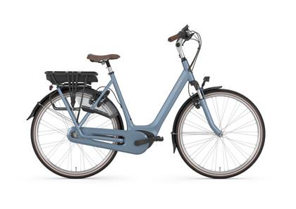 GAZELLE Elcykel ORANGE C7+ HMB | Jeans blue mat | Dame | Sølv batteri