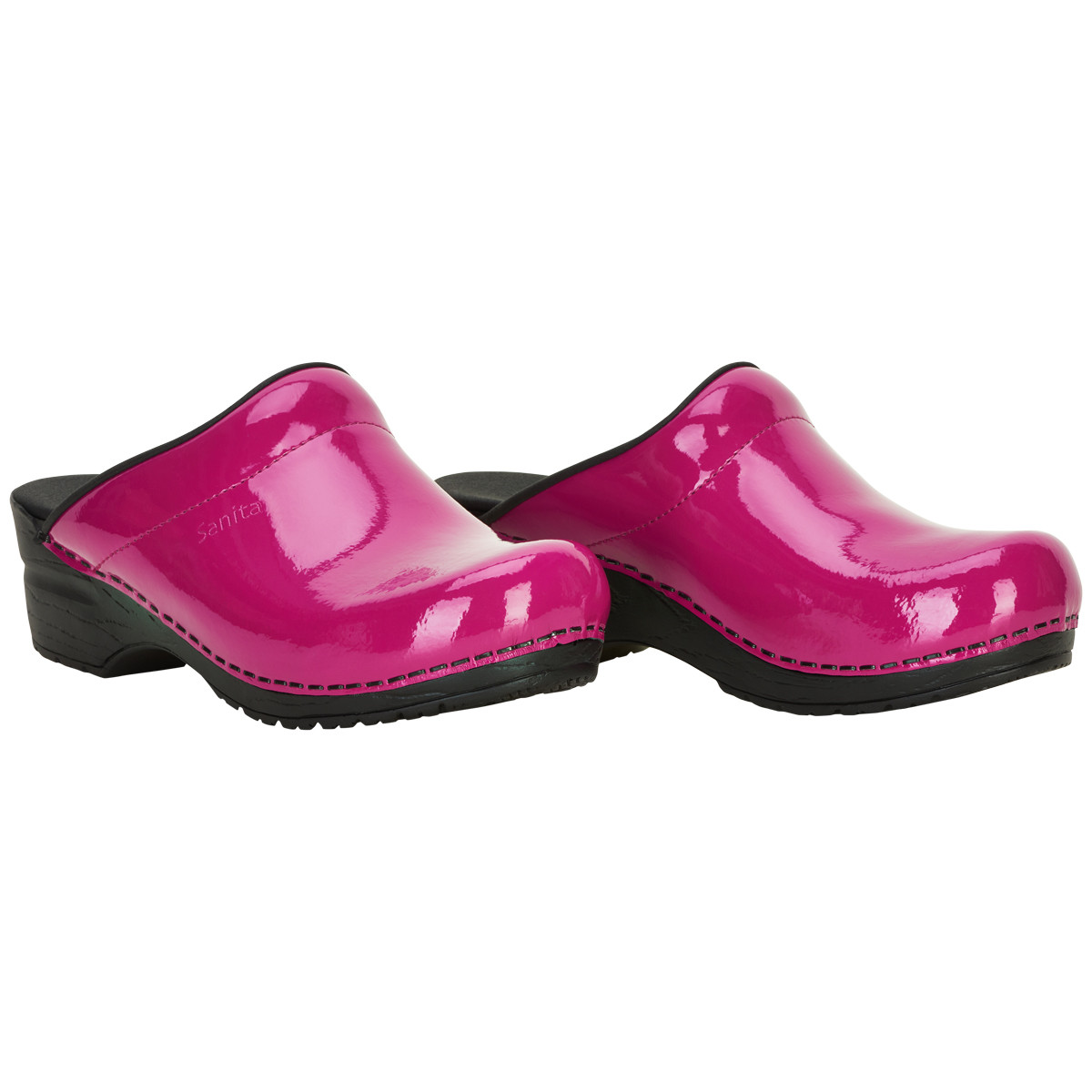 Sanita Original Sonja Patent Clogs 450447 79