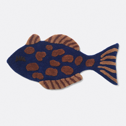 Ferm Living Tufted Deco tæppe - Fish